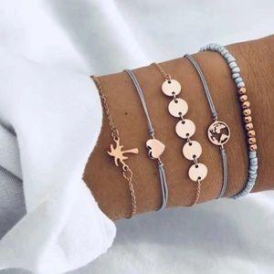Jewelry - 3 for $20 Boho Earth Peace Love Bracelet